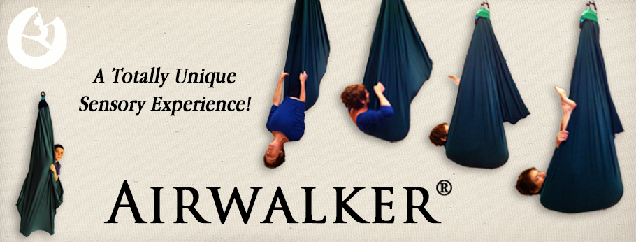 Airwalker, sensory suspension swing, sensory swing, cuddle swing,