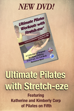 Katherine Kimberly Corps Pilates on Fifth Stretch-eze Pilates mat and stretching