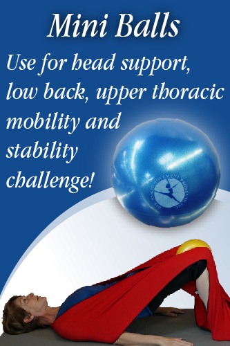mini balls, slomo balls, head support, low back, upper thoracic mobility and stability challenge