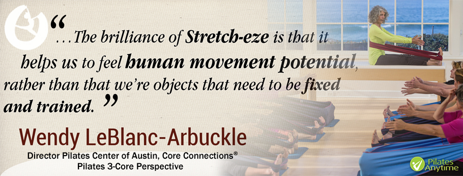 Pilates Pilates Anytime, Stretch-eze, Wendy Leblanc-Arbuckle, resistance bands,